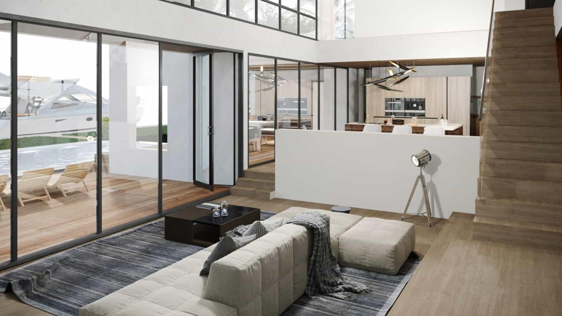 Miami-Living-Room-3D-Rendering